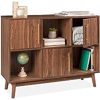 Best Choice Products 6-Shelf Modern Multipurpose Wood Storage Stand