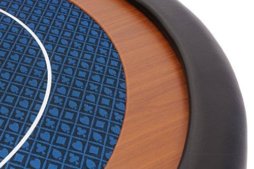 Riverboat Gaming Kompakte Faltbare Pokerauflage mit wasserabweidenden Stoff und Tasche – Blau Pokertisch 120cm - 3