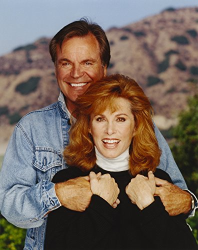 Hart To Hart Man in Denim Jacket and Woman in Turtle Neck Blouse Photo Print (24 x 30)