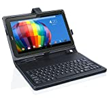inDigi Universal Tablet Case with Full Keyboard Black PU Leather for 7.0' inches indigi Tablet Phablet