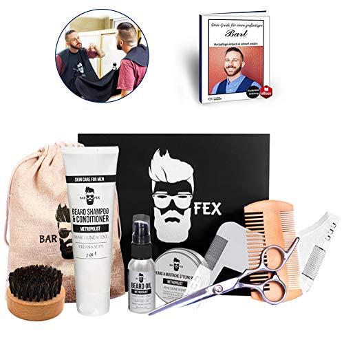 ● Bartpflegeset Sieger 2020 ● Hochwertige Pflege Made in Germany ● Herren Rasur und Geschenk Set von BarFex ●