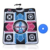 lelukee Dance Pad for Kids Adults,USB Dance Mat for PC,Non-Slip Durable Dancing Step Dance Mat,Fitness Body Building Dancing Mat,Arcade Games Machines for Home Dance Mats,Plug and Play