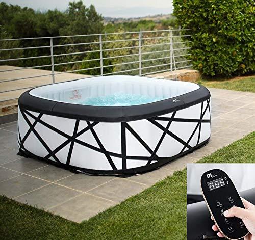 DEKO VERTRIEB BAYERN XXL Luxus SPA Whirlpool Modell 2021 aufblasbar Outdoor+Indoor +Heizung 6 Personen inkl. Fernbedienung Mspa Modell 2021
