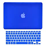 TOP CASE - 2 in 1 Signature Bundle Rubberized Hard Case and Keyboard Cover ONLY Compatible MacBook Air 13' A1369 & A1466 (Older Version, Release 2010-2017) - Royal Blue