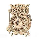 ROKR Owl Clock Puzzle 3D Maqueta Madera | Maquetas para Montar | Maquetas para Construir Adultos