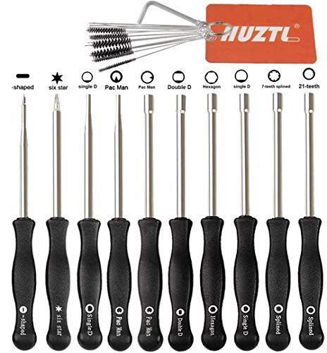 HUZTL Carburetor Adjustment Tool Tune up Kit Carb Adjusting Tool for Common 2 Cycle Husqvarna Echo Poulan STIHL MTD Ryobi Homelite Trimmer Weed Eater Chainsaw (10pcs & Cleaning Tool)