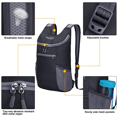 G4Free Lightweight Packable Shoulder Backpack Hiking Daypacks Small Casual Foldable Outdoor Bag 11L