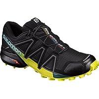 Salomon Speedcross 4, Zapatillas de Trail Running para Hombre, Negro/Amarillo (Black/Everglade/Sulphur Spring), 43 1/3 EU