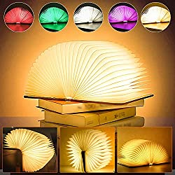 Wooden folding lamp for reading in bed