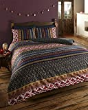 De cama Ethnic Indian Print Bedding  Quilt Cover Bed Set With Pillow Cases (double), Multi