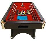 GRAFICA MA.RO SRL Mesa de Billar Modelo 7 FT Red Devil Full Optional Juegos de Billar Pool Medición de 188 X 96 cm Full Carambola Nuevo embalado Disponible