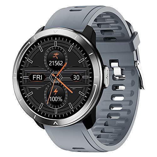 HJKPM M18plus Smartwatch, Reloj Inteligente De Salud De Pantalla Grande A Prueba De Agua IP68 con Ritmo Cardíaco Deportivo Monitoreo del Sueño Y Bluetooth Take Funcion,A1
