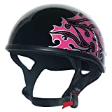 CUSTOM BILT Women's Hawk Tribal Motorcycle Half Helmet - XS,...