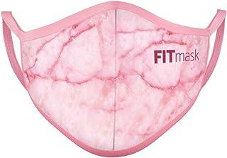 FITmask Mascarilla Reutilizable Lavable Certificada Tejido Hidrófugo Made in Spain Pink Marble - Adulto Orejera - M