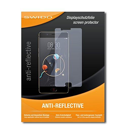 SWIDO Schutzfolie für Nubia M2 [2 Stück] Anti-Reflex MATT Entspiegelnd, Hoher Festigkeitgrad, Schutz vor Kratzer/Bildschirmschutz, Bildschirmschutzfolie, Panzerglas-Folie