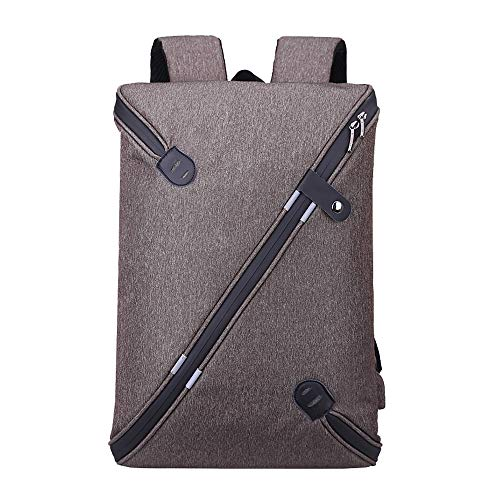 Professional Slim Laptop Backpacks, Fashion Travel Daypack Casual business College-grey