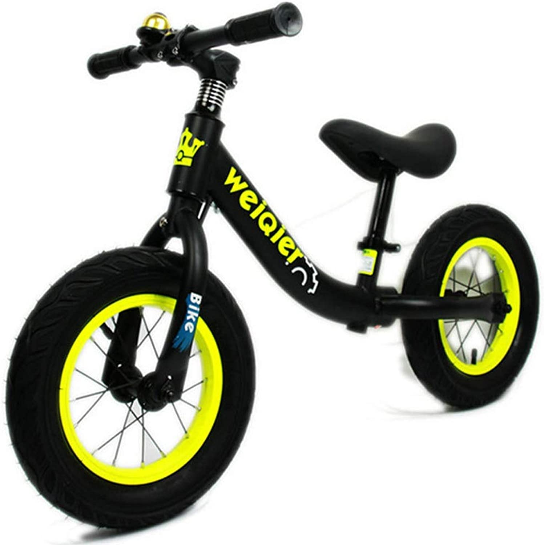 buen precio Equilibrio Bicicleta sin Pedales Bicicleta para Niños con Ruedas con con con Amortiguador de Choque de 12 Pulgadas, Balance de Ejercicio para Niños de 2 años a 6 años ( Color   negro )  precios ultra bajos