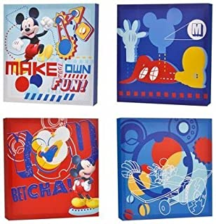 Best disney mickey mouse 4 pack canvas wall art Reviews
