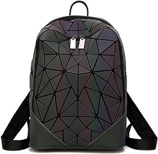 Nueva Mochila De Estilo Japonés Luminosa Bolsa De Colegio Mate Marea Mochila Rómbica Geométrica Bolso De Costura Cuadrada De Rubik 1 33 * 33 * 15Cm