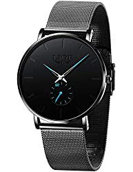 ♕Worry-Free Purchase: Each LIGE men's watch comes with a 24-month warranty and a 60-day full money-back guarantee. This minimalist style watch is packaged in an elegant gift box and will provide you with a comfortable wearing experience. If you have ...