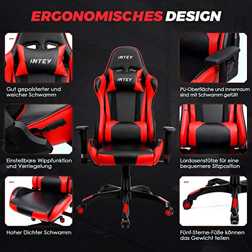 INTEY Gaming Stuhl Computer Stuhl Racing Bild 4*