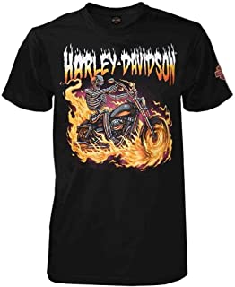 Harley-Davidson Men's Tales from The Road Short Sleeve Crew T-Shirt, Black