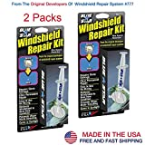 2 Pack Blue-Star Fix Your Windshield Do It Yourself Windshield Repair Kits, Glass Repair KIT Stone Damage CHIP Model # 777 Prevent Stone Damage from Spreading Made in USA