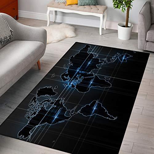 LGXINGLIyidian Alfombra Mapa del Mundo Creativo Y Hermoso Alfombra Suave Antideslizante para Decoración del Hogar Impresa En 3D F-666T 160X230Cm