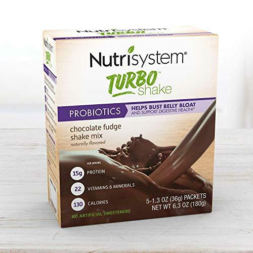Nutrisystem Turbo Shake Probiotics, Chocolate Shake Mix, 5 Little Packets