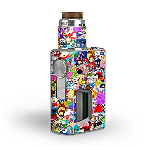 Skin Decal Vinyl Wrap for GeekVape Athena Squonk Kit Vape Kit skins stickers cover/ Sticker collage,sticker pack