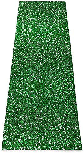 Kit de yoga Deer on the mountain Esterilla de yoga, esterilla antideslizante impresa para ejercicios y fitness, ideal para yoga, pilates, ejercicio de equilibrio, etc. (70 x 24 x 0,1 cm), color verde