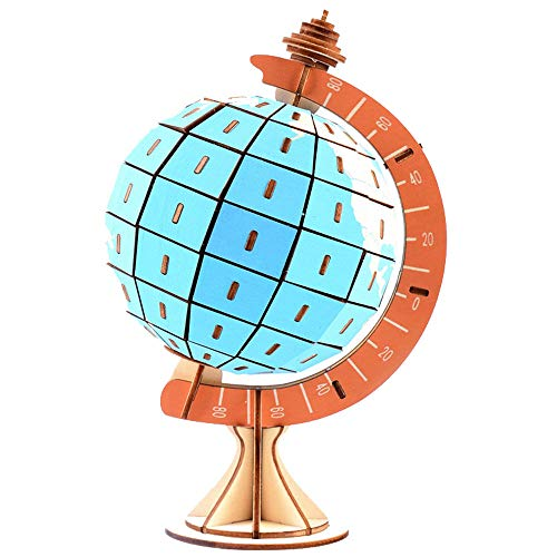 JIYUAN 3d Wooden Puzzle Globe Model Kits, For Teens And Adults Of Christmas Birthday Best Gifts