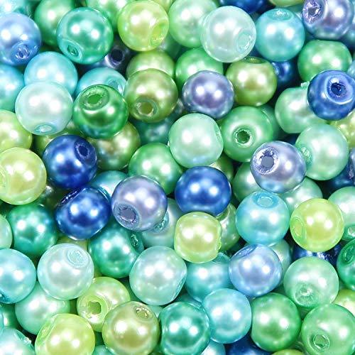 TOAOB 500 Stück 6mm Glasperlen Runde Sortierte Mehrfarbig Lose Perlen für Schmuckherstellung