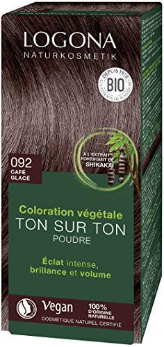 LOGONA Naturkosmetik Colorante végétale poudre 092 expresso, 100 g