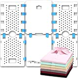 BoxLegend V4 Shirt Folding Board t Shirts Clothes Folder Durable Plastic Laundry folders Folding Boards, White