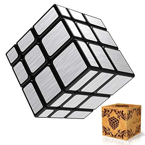 SPLAKS Zauberwürfel 3x3 Silber Mirror Puzzle Cube