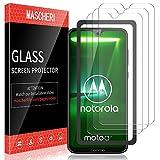 MASCHERI Schutzfolie für Motorola Moto G7 / Moto G7 Plus Panzerglas, [3 Pack] [Ausgestattet mit einem Einbaurahmen] Bildschirmschutzfolie Panzerfolie Bildschirmschutz Panzerglasfolie Glas Folie