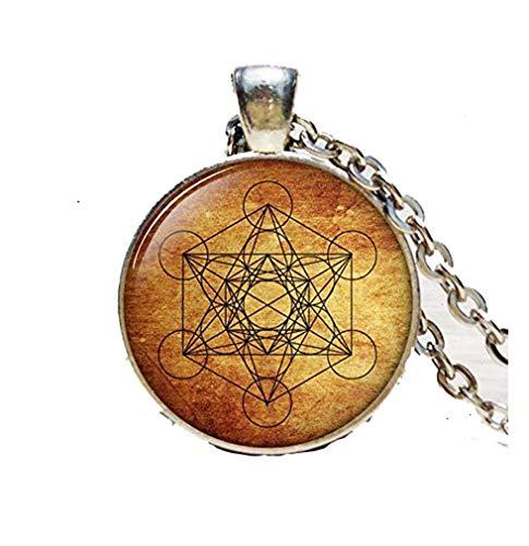 Pingente de cubo Metatron, joia de geometria sagrada, colar geométrico, colar de geometria sagrada, joia para homens, colar para homens, chaveiro ou colar