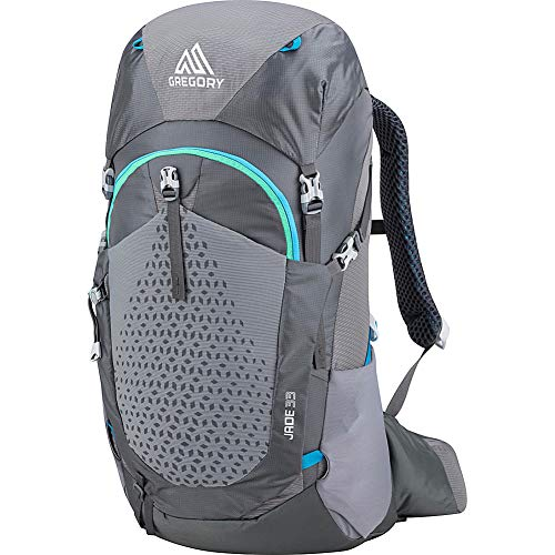 Gregory Mountain Products Jade 33 Liter Women's Hiking Backpack, Ethereal Grey, Small/Medium