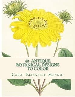 40 Antique Botanical Designs to Color
