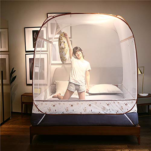 HEXbaby Pop Up Mosquito Net for Home & Travel Camping Tent Stand Up Canopy Large for King Bed Netting Without Floor Bottom,200180165cm