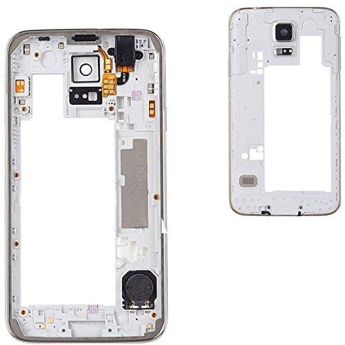 Premium✅ Mittelrahmen Gehäuse (SILBER) für Samsung Galaxy S5 G900F i9600 - Middle Bezel Frame Housing Cover - Silber NEU