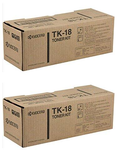 Kyocera km-tk18(kmtk18) Schwarz Tonerkartusche Doppelpack für fs-1020d, km-1815, km-1820