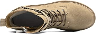 Chaussures confortables Bottes de combat for hommes cheville botte lacet style fermeture à glissière latérale supérieure a...