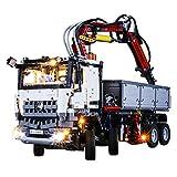 JTTM Conjunto de iluminación LED para (Technic Mercedes-Benz Arocs 3245 Truck) Bloques de construcción Modelo - Kit de luz Compatible con Lego 42043 (no Incluido Modelo Lego)