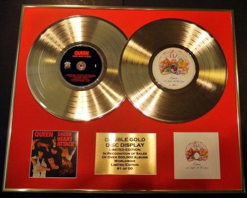 QUEEN/double CD Disco de Oro & Foto Display/Edicion LTD/Certificato di autenticità/SHEER HEART ATTACK...