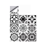 25 PCS Moroccan Style Tile Sticker, 4x4 Inch(10x10cm) Traditional DIY Murals, Tile Waterproof Oil Proof Removable Wall Sticker Decals for Bathroom & Kitchen Backsplash (TS-205)