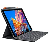 (Renewed) Logitech Slim Folio for iPad Air (3rd Generation) Keyboard Case (Model: A2123, A2152,...
