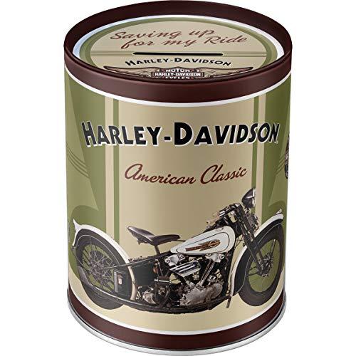 Nostalgic-Art - Harley-Davidson Knucklehead - Spardose, Geschenke für Harley-Davidson Fans, als Sparschwein aus Metall, Vintage Sparbüchse aus Blech