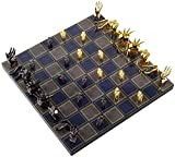 Juego de tablero de ajedrez Staunton Juego de ajedrez Staunton Piezas de ajedrez de metal Tablero de ajedrez de madera maciza Juego de ajedrez profesional de alto grado Juego de adornos de regalo para
